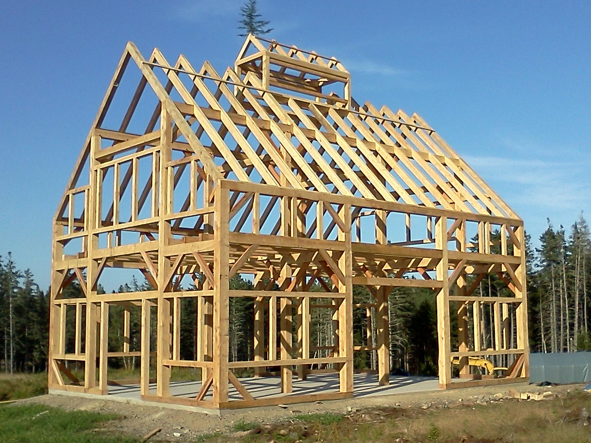 30 X 40 Timber Frame Barn Black Dog Timberworks