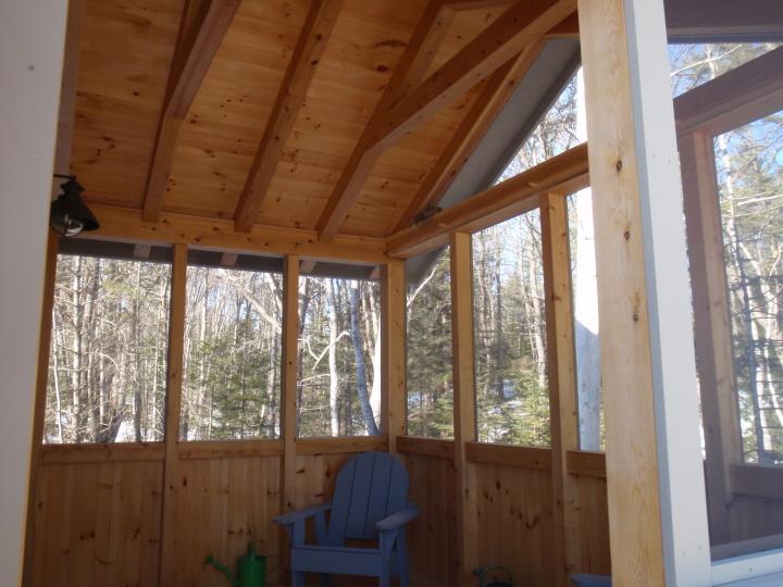 Timber Frame Screen Porch Black Dog Timberworks