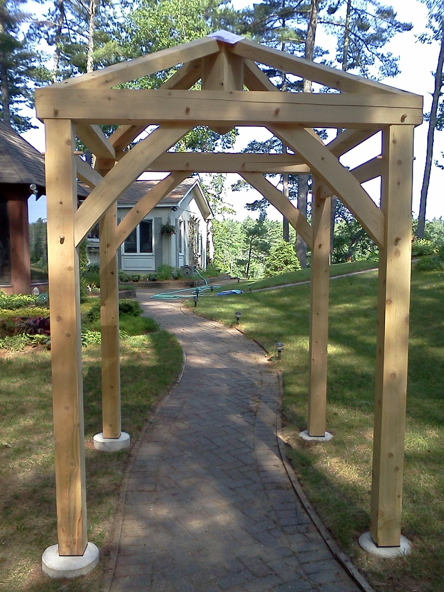 Hip Rafters Garden Arbor Black Dog Timberworks