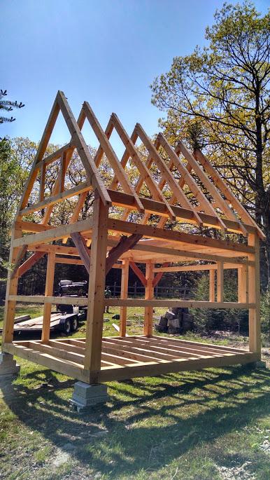 14 X 16 Tiny Timber Frame Cabin Black Dog Timberworks