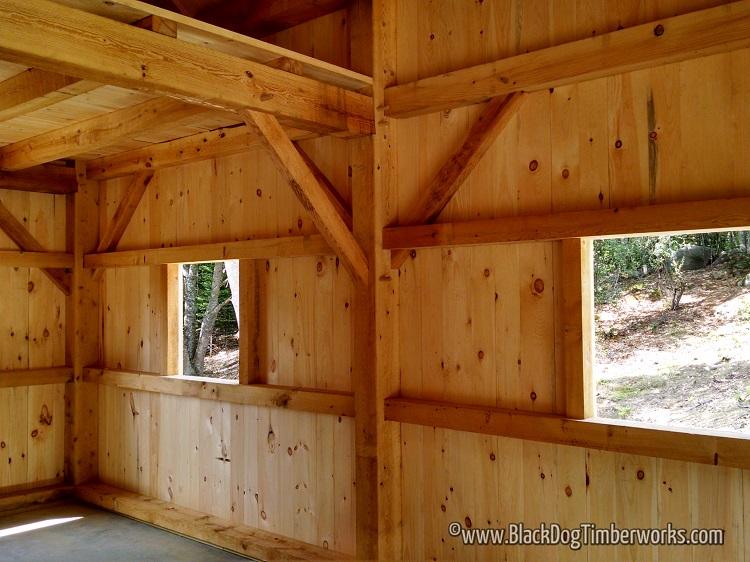 16 X 24 Timber Frame Barn Black Dog Timberworks